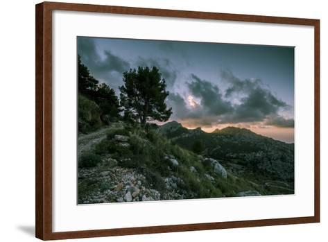 Sunset on Majorca, Serra De Tramuntana-Jorg Simanowski-Framed Art Print