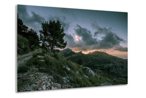 Sunset on Majorca, Serra De Tramuntana-Jorg Simanowski-Metal Print