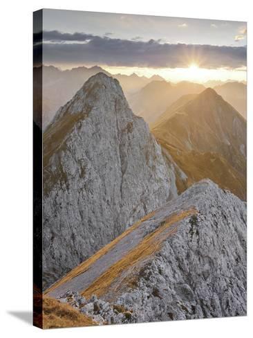 Falschkogel, Steinjšchl, Hahntennjoch, Lechtal Alps, Tyrol, Austria-Rainer Mirau-Stretched Canvas Print