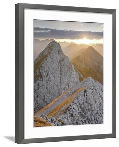 Falschkogel, Steinjšchl, Hahntennjoch, Lechtal Alps, Tyrol, Austria-Rainer Mirau-Framed Art Print