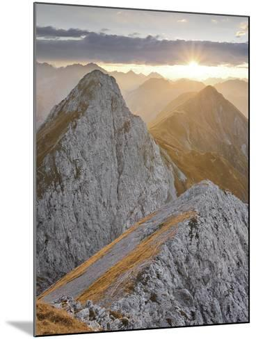 Falschkogel, Steinjšchl, Hahntennjoch, Lechtal Alps, Tyrol, Austria-Rainer Mirau-Mounted Photographic Print