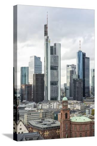 Germany, Hesse, Frankfurt Am Main, Skyline with St Paul's Church-Bernd Wittelsbach-Stretched Canvas Print