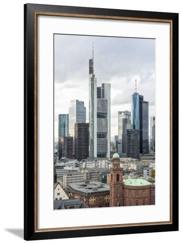 Germany, Hesse, Frankfurt Am Main, Skyline with St Paul's Church-Bernd Wittelsbach-Framed Art Print