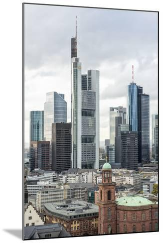 Germany, Hesse, Frankfurt Am Main, Skyline with St Paul's Church-Bernd Wittelsbach-Mounted Photographic Print