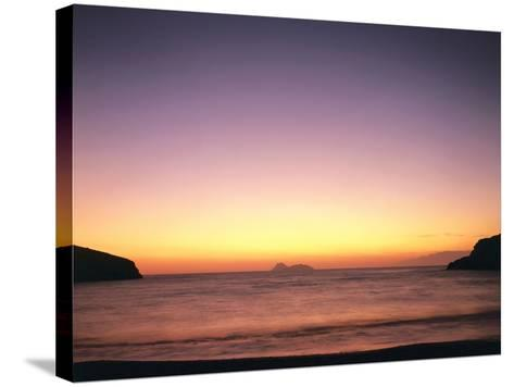 Greece, Island Crete, Matala, Bay, Islands, Sea, Evening Mood-Thonig-Stretched Canvas Print