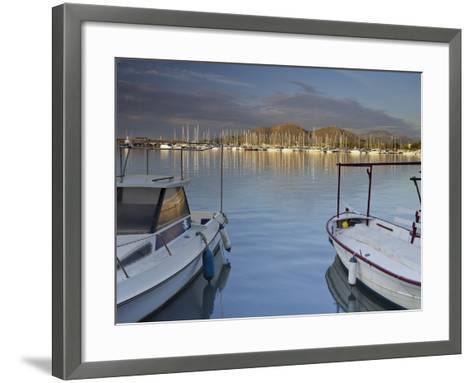 Yacht Harbour in Port D'Alcudia, Majorca, Spain-Rainer Mirau-Framed Art Print