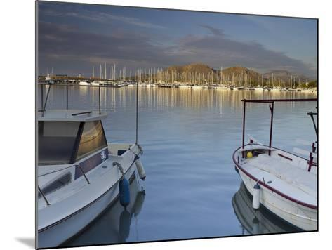 Yacht Harbour in Port D'Alcudia, Majorca, Spain-Rainer Mirau-Mounted Photographic Print