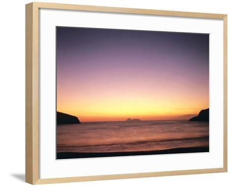 Greece, Island Crete, Matala, Bay, Islands, Sea, Evening Mood-Thonig-Framed Art Print