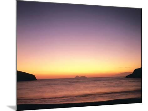 Greece, Island Crete, Matala, Bay, Islands, Sea, Evening Mood-Thonig-Mounted Photographic Print