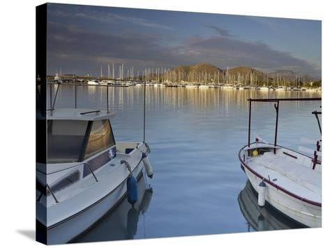 Yacht Harbour in Port D'Alcudia, Majorca, Spain-Rainer Mirau-Stretched Canvas Print