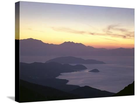 Greece, Crete, Agios Nikolaos, Mirabello Bay, Sunset-Thonig-Stretched Canvas Print