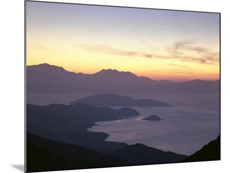 Greece, Crete, Agios Nikolaos, Mirabello Bay, Sunset-Thonig-Mounted Photographic Print