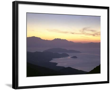 Greece, Crete, Agios Nikolaos, Mirabello Bay, Sunset-Thonig-Framed Art Print