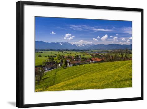 Germany, Bavaria, Upper Bavaria, Pfaffenwinkel, Aidling-Udo Siebig-Framed Art Print