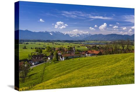 Germany, Bavaria, Upper Bavaria, Pfaffenwinkel, Aidling-Udo Siebig-Stretched Canvas Print