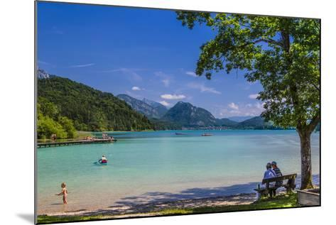 Austria, Salzburg Country, Salzkammergut, Fuschl Am See, Lake Fuschlsee, West Bank, Natural Beach-Udo Siebig-Mounted Photographic Print