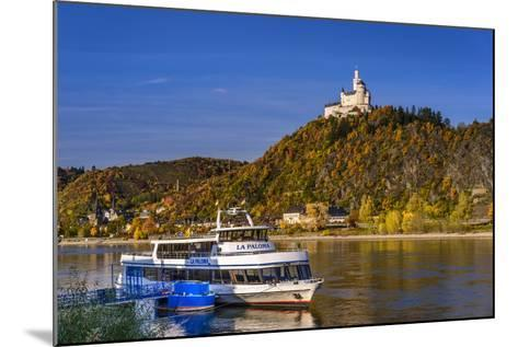 Germany, Rhineland-Palatinate, Upper Middle Rhine Valley, Braubach, the Rhine, Townscape, Marksburg-Udo Siebig-Mounted Photographic Print
