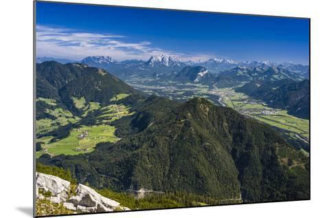 Austria, Tyrol, Rofan (Mountains), Kramsach (Village), View from the Rosskogel to Inntal-Udo Siebig-Mounted Photographic Print