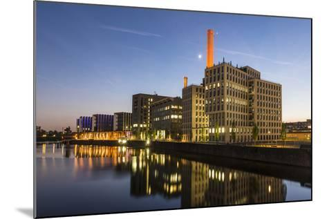 Germany, Hesse, Frankfurt on the Main, View at the Office Buildings in the Westhafen at Dusk-Bernd Wittelsbach-Mounted Photographic Print