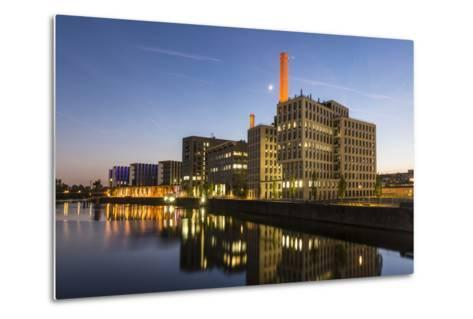 Germany, Hesse, Frankfurt on the Main, View at the Office Buildings in the Westhafen at Dusk-Bernd Wittelsbach-Metal Print
