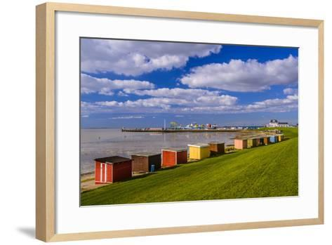 Germany, Schleswig-Holstein, North Frisia, DagebŸll, District Harbour-Udo Siebig-Framed Art Print