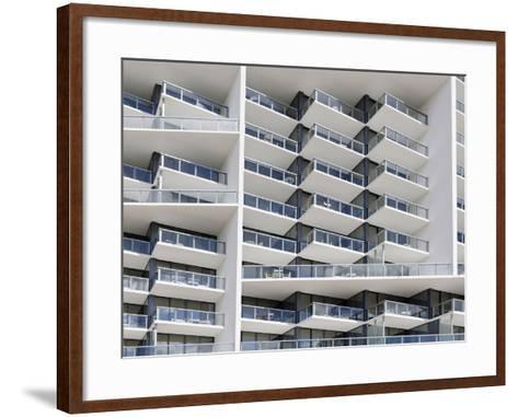 Facade of the Luxury Hotel 'W', 22nd Street, Miami Beach, Florida, Usa-Axel Schmies-Framed Art Print