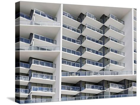 Facade of the Luxury Hotel 'W', 22nd Street, Miami Beach, Florida, Usa-Axel Schmies-Stretched Canvas Print
