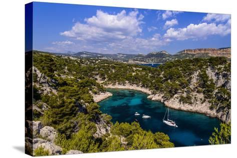 France, Provence, Bouches-Du-Rh™ne, Riviera, Cassis, Calanque De Port Pin-Udo Siebig-Stretched Canvas Print