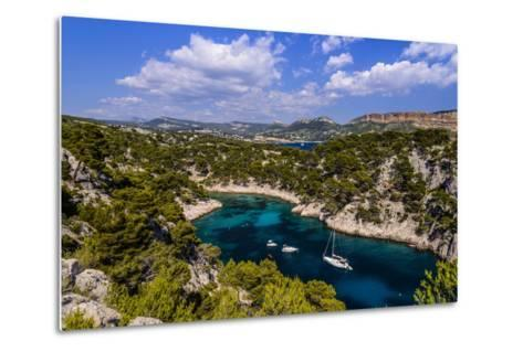 France, Provence, Bouches-Du-Rh™ne, Riviera, Cassis, Calanque De Port Pin-Udo Siebig-Metal Print