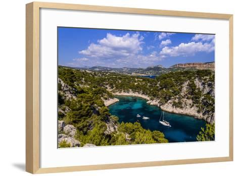 France, Provence, Bouches-Du-Rh™ne, Riviera, Cassis, Calanque De Port Pin-Udo Siebig-Framed Art Print