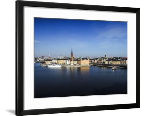 Cityscape, Stockholm, View on Districts Riddarholmen, Gamla Stan and Kungsholmen-Frina-Framed Art Print