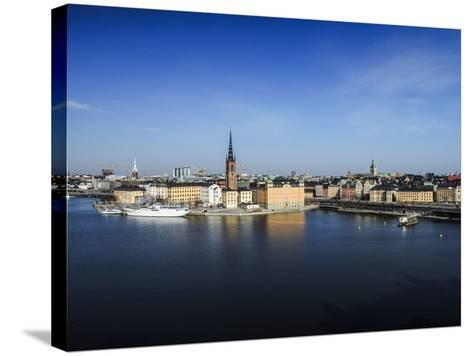 Cityscape, Stockholm, View on Districts Riddarholmen, Gamla Stan and Kungsholmen-Frina-Stretched Canvas Print