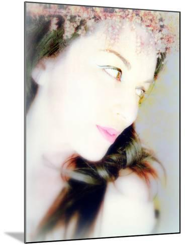 Portrait of a Woman with Flowers in Her Dark Hair-Alaya Gadeh-Mounted Photographic Print