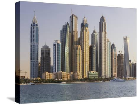 Skyscrapers Near Dubai Marina, the Palm Jumeirah, Dubai, United Arab Emirates-Rainer Mirau-Stretched Canvas Print