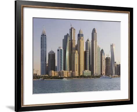 Skyscrapers Near Dubai Marina, the Palm Jumeirah, Dubai, United Arab Emirates-Rainer Mirau-Framed Art Print
