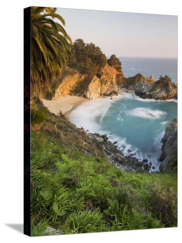 Mcway Falls, Mcway Cove, Julia Pfeiffer Burns State Park, California, Usa-Rainer Mirau-Stretched Canvas Print