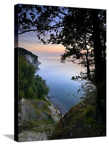 Chalk Rocks, Sunrise, National Park Jasmund, Island RŸgen, Mecklenburg-West Pomerania, Germany-Andreas Vitting-Stretched Canvas Print