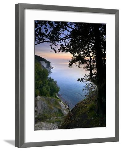 Chalk Rocks, Sunrise, National Park Jasmund, Island RŸgen, Mecklenburg-West Pomerania, Germany-Andreas Vitting-Framed Art Print