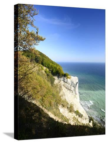 Denmark, Island M¿n, the Chalk Rocks of M¿ns Klint-Andreas Vitting-Stretched Canvas Print
