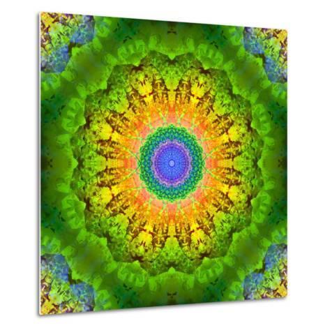 Mandala Ornament of Flowers, Composing-Alaya Gadeh-Metal Print