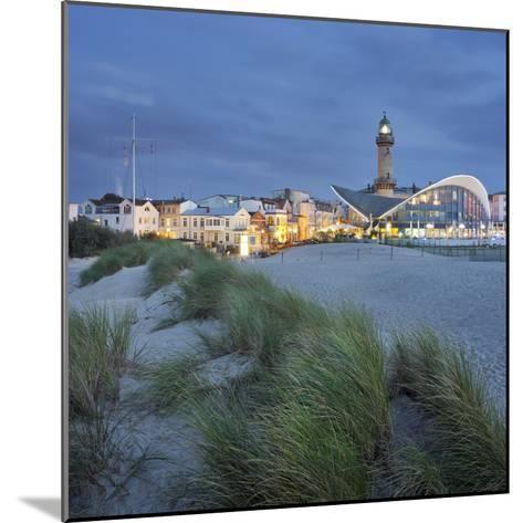 Lighthouse of WarnemŸnde, Dunes, Mecklenburg-Western Pomerania, Germany-Rainer Mirau-Mounted Photographic Print