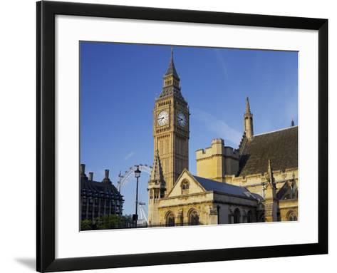 Westminster Palace, Big Ben, London, England, Great Britain-Rainer Mirau-Framed Art Print