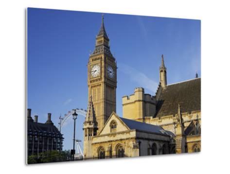 Westminster Palace, Big Ben, London, England, Great Britain-Rainer Mirau-Metal Print
