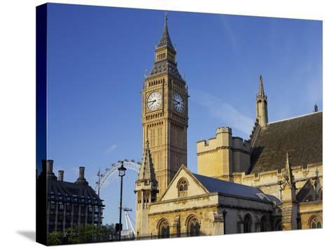 Westminster Palace, Big Ben, London, England, Great Britain-Rainer Mirau-Stretched Canvas Print