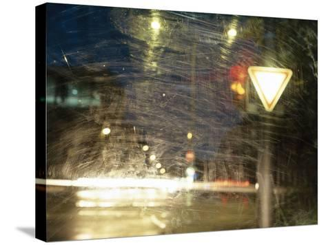 City Traffic, Traffic Light, Traffic Signs, Look Windscreen, Scuffs- Fact-Stretched Canvas Print