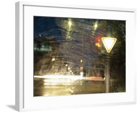 City Traffic, Traffic Light, Traffic Signs, Look Windscreen, Scuffs- Fact-Framed Art Print