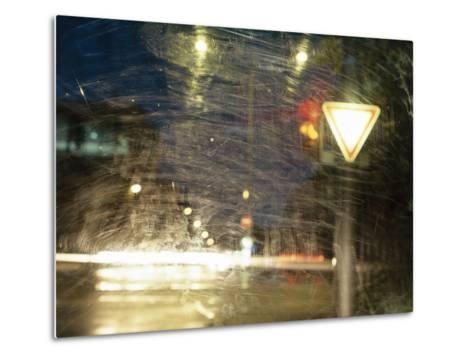 City Traffic, Traffic Light, Traffic Signs, Look Windscreen, Scuffs- Fact-Metal Print