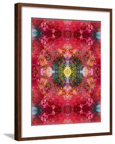 An Energetic Symmetric Onament from Flower Photographs-Alaya Gadeh-Framed Art Print