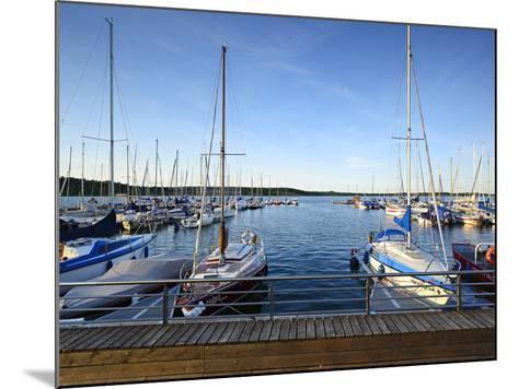 Germany, Saxony-Anhalt, MŸcheln, Geiseltalsee, Marina, Sailboats in the Evening Light-Andreas Vitting-Mounted Photographic Print