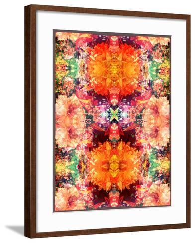 A Symmetric Colorful Ornament from Flowers, Photographic Layer Work-Alaya Gadeh-Framed Art Print